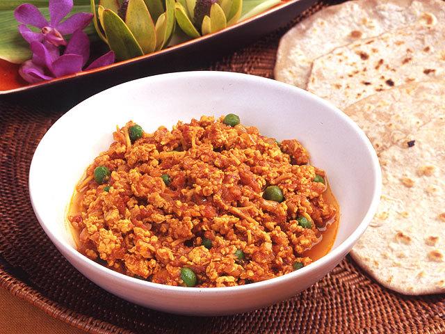 北インド風キーマカレー&手作りチャパティ