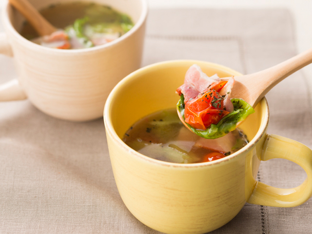 スープ レタス