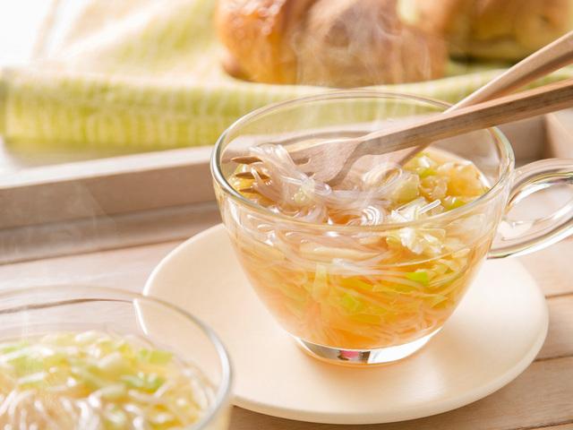 キャベツと春雨のモーニングスープ